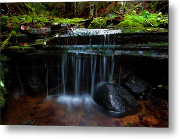 The Trickling Brook Metal Print