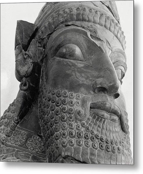 The Triplon Sculpture In Persepolis Metal Print by Horst P. Horst