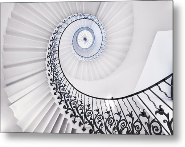 The Tulip Staircase Metal Print