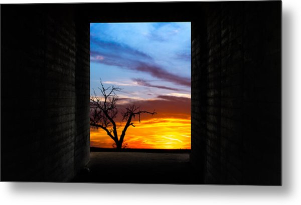 The Tunnel   Sunset1 Metal Print
