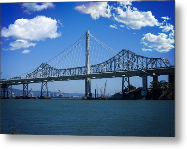 The Two Bridges Metal Print by SFPhotoStore