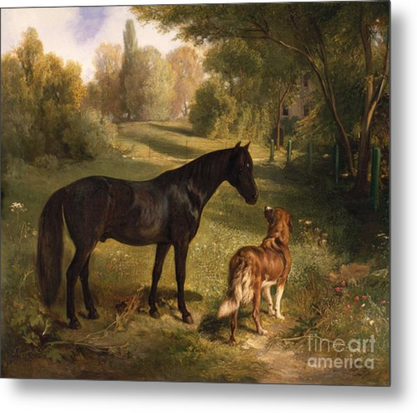 The Two Friends Metal Print