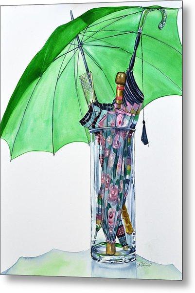 The Umbrella Plan Metal Print by Jane Loveall