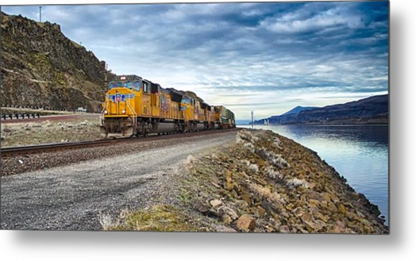 The Union Pacific Railroad Columbia River Gorge Oregon Metal Print