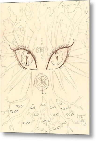 The Universal Tree Sketch Metal Print by Coriander  Shea
