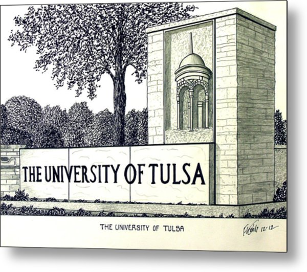 The University Of Tulsa Metal Print