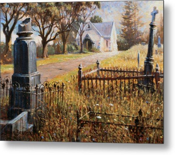 The Upward Path  Waikumete Cemetery  Auckland Metal Print