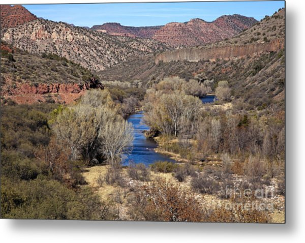 The Verde River In The Verde Canyon Arizona Metal Print