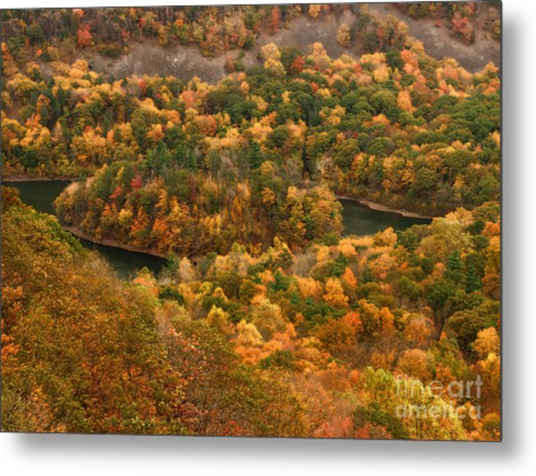 The View On Top Of Castle Craig Metal Print