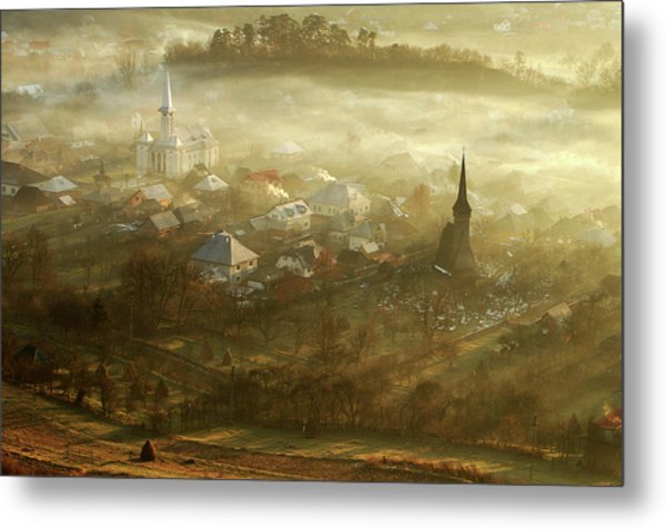 The Village Born From Fog... Metal Print by