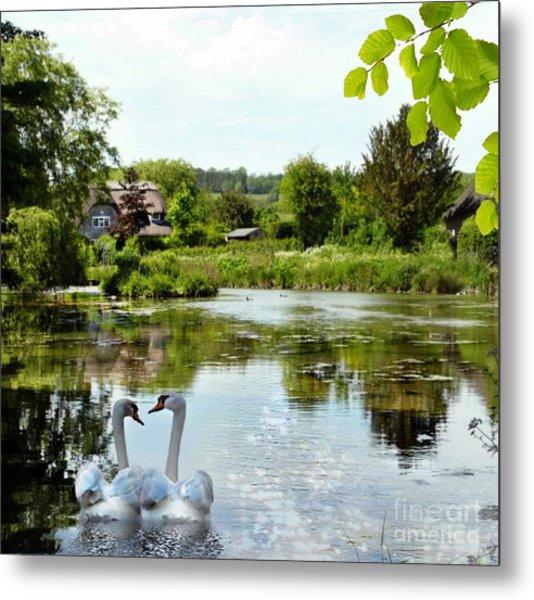 The Village Pond Metal Print