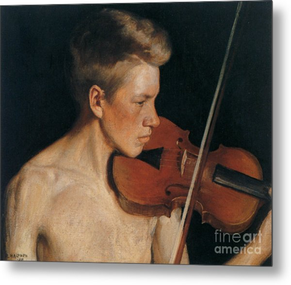 The Violinist Metal Print