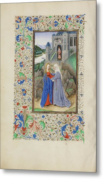 The Visitation Master Of The Llangattock Hours, Flemish Metal Print by Litz Collection