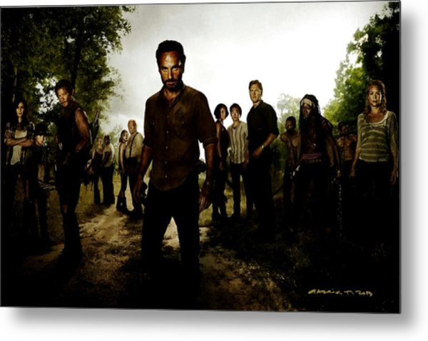 The Walking Dead Metal Print