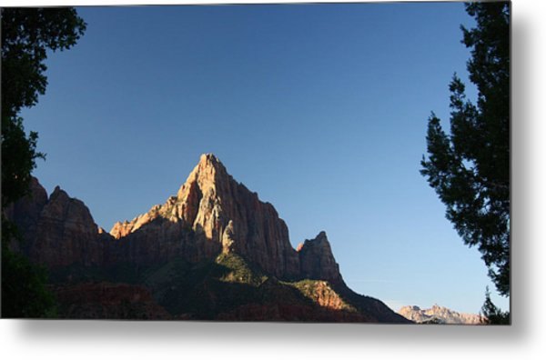 The Watchman In Zion National Park Metal Print