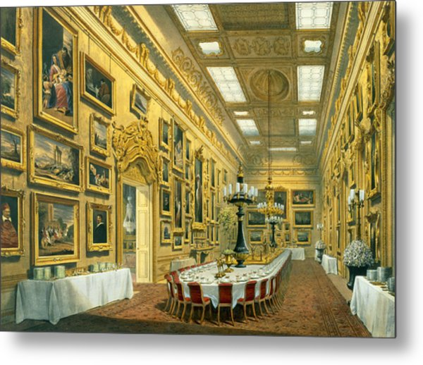 The Waterloo Gallery, Apsley House Metal Print