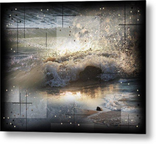 The Waves Of Lake Michigan Metal Print by Andrew Sliwinski
