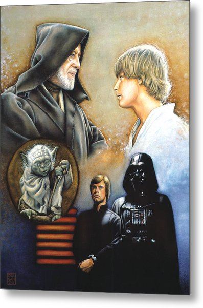 The Way Of The Force Metal Print