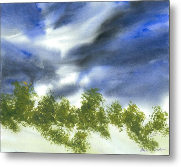 The Weather Of Change Metal Print by Karen  Condron