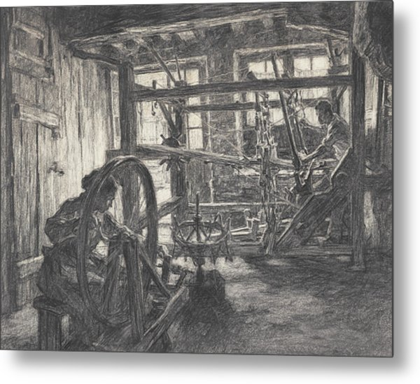 The Weaver And His Wife Metal Print