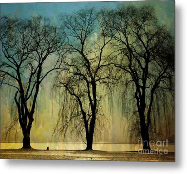 The Weeping Trees Metal Print