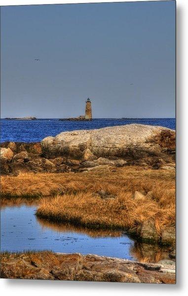 The Whaleback Lighthouse Metal Print by Joann Vitali