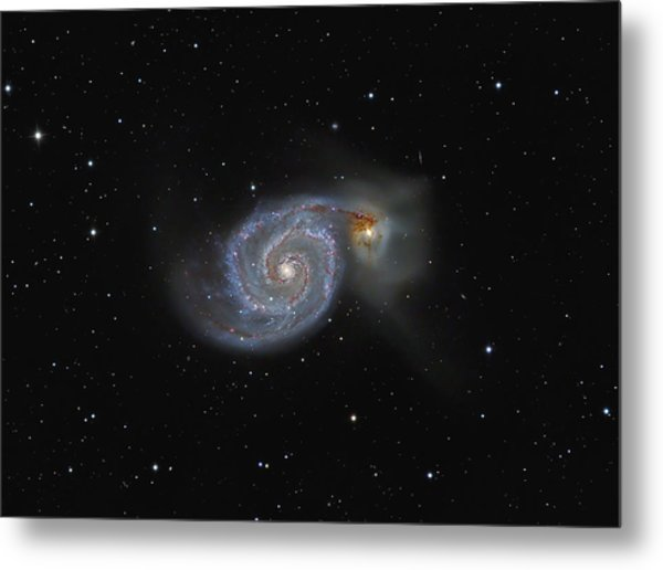 The Whirlpool Galaxy Metal Print by Brian Peterson