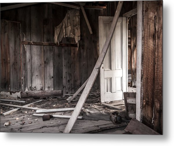 The White Door Metal Print