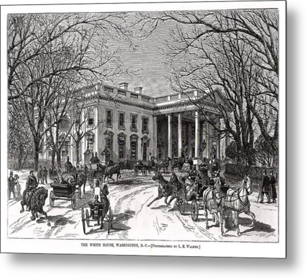 The White House 1877 Metal Print by Charles Somerville