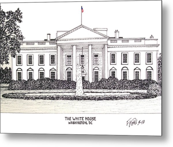 The White House Metal Print