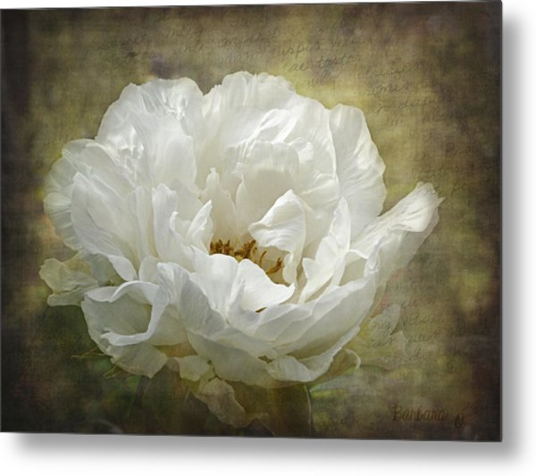 The White Peony Metal Print