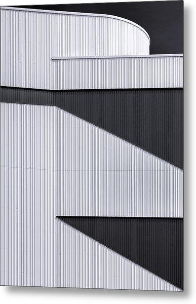 The White Wall Metal Print