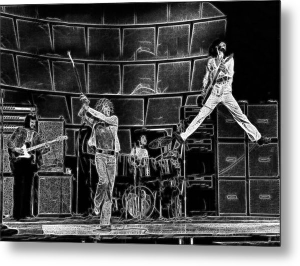 The Who - A Pencil Study - Designed By Doc Braham Metal Print