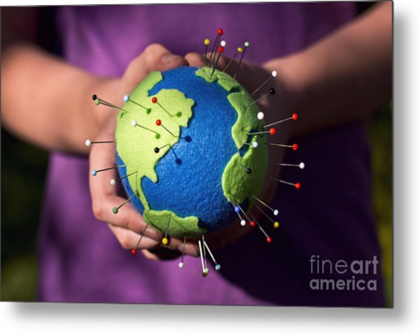 The Whole World In Your Hands Metal Print by Catherine MacBride