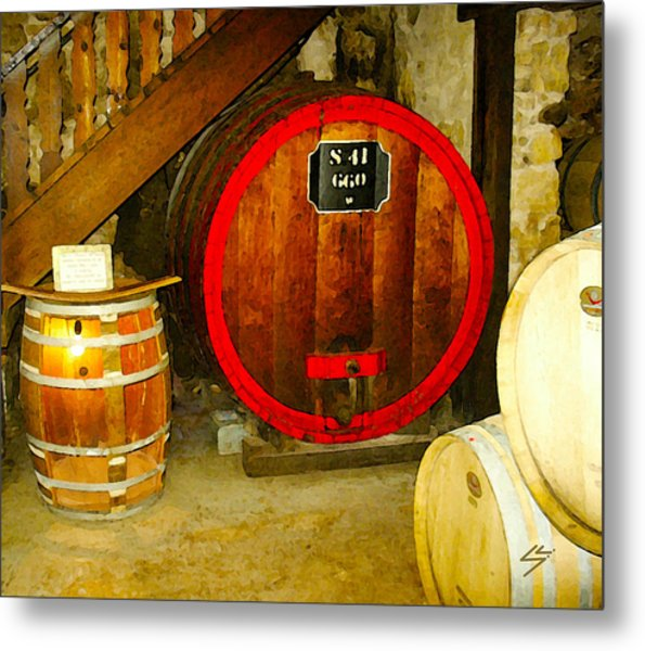 The Wine Cellar Metal Print