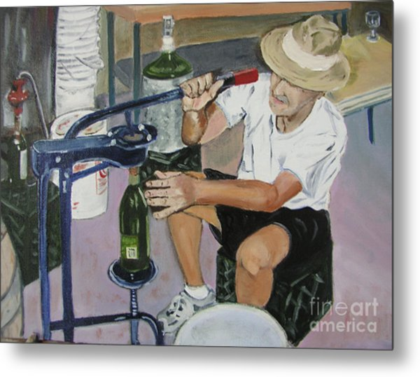 The Wine Maker Metal Print