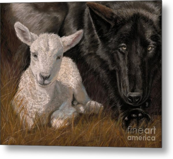 The Wolf And The Lamb Metal Print