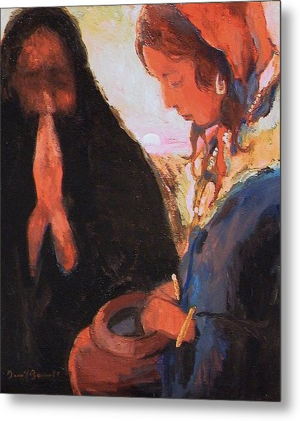 The Woman At The Well Metal Print