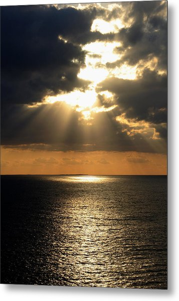 Key West Sunset The Word Metal Print