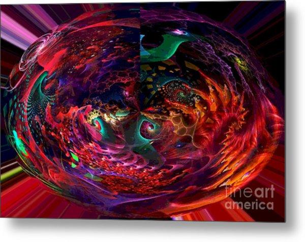 Colorful Orb Metal Print