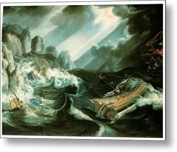 The Wreck Of The Amsterdam Metal Print by Flemish School