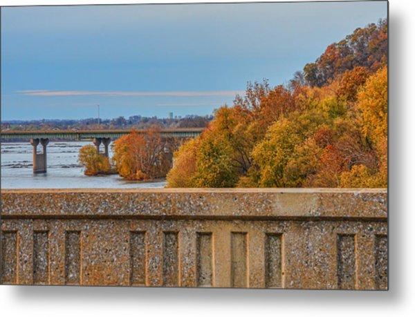 The Wright's Ferry Bridge In Fall Metal Print