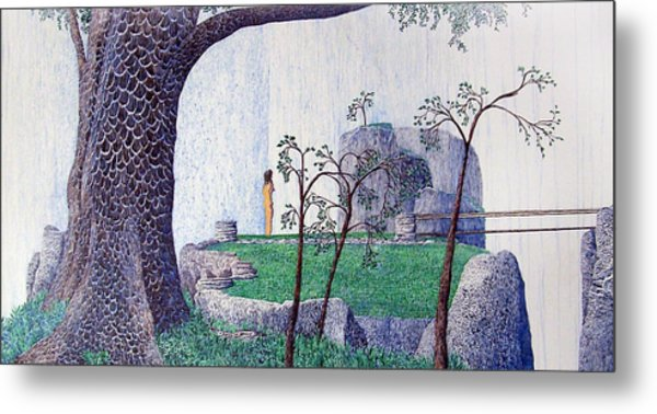 The Yearning Tree Metal Print