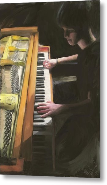 The Young Pianist Metal Print