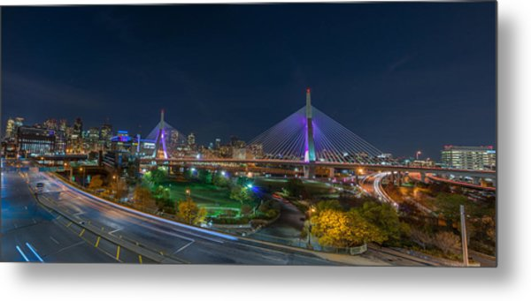 The Zakim Bridge Metal Print