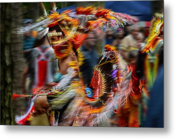 Their Spirit Is Among Us - Nanticoke Powwow Delaware Metal Print