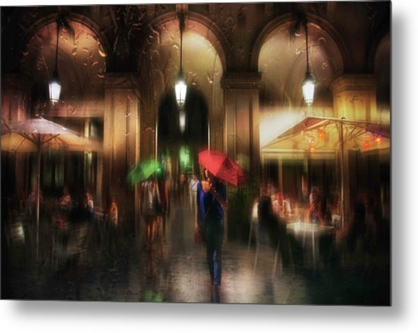 There Is Something In The Rain... Metal Print by Charlaine Gerber