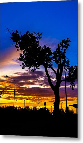 There Is Something Magical About The Sky Metal Print