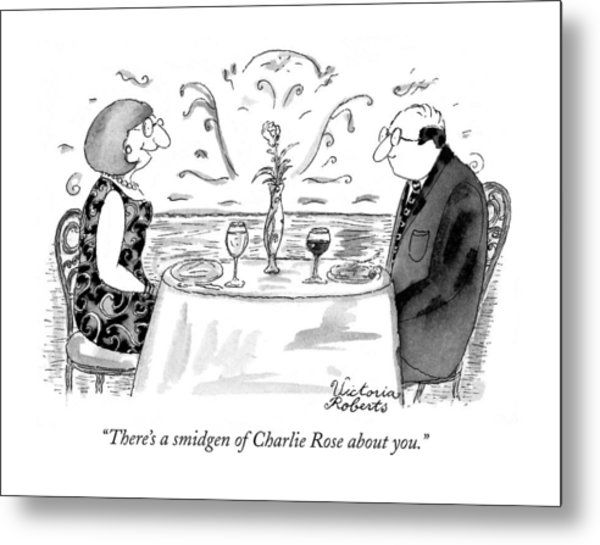 There's A Smidgen Of Charlie Rose About You Metal Print
