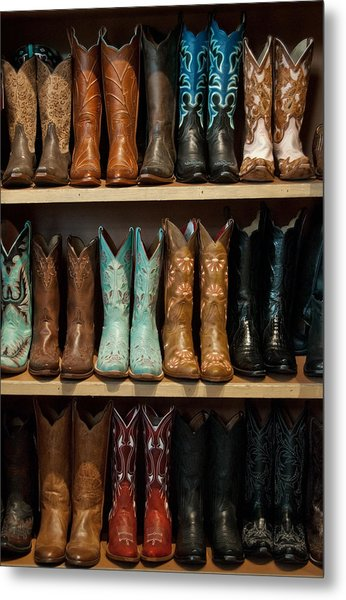 Metal Print featuring the photograph These Boots Were Made For Walking by Jani Freimann
